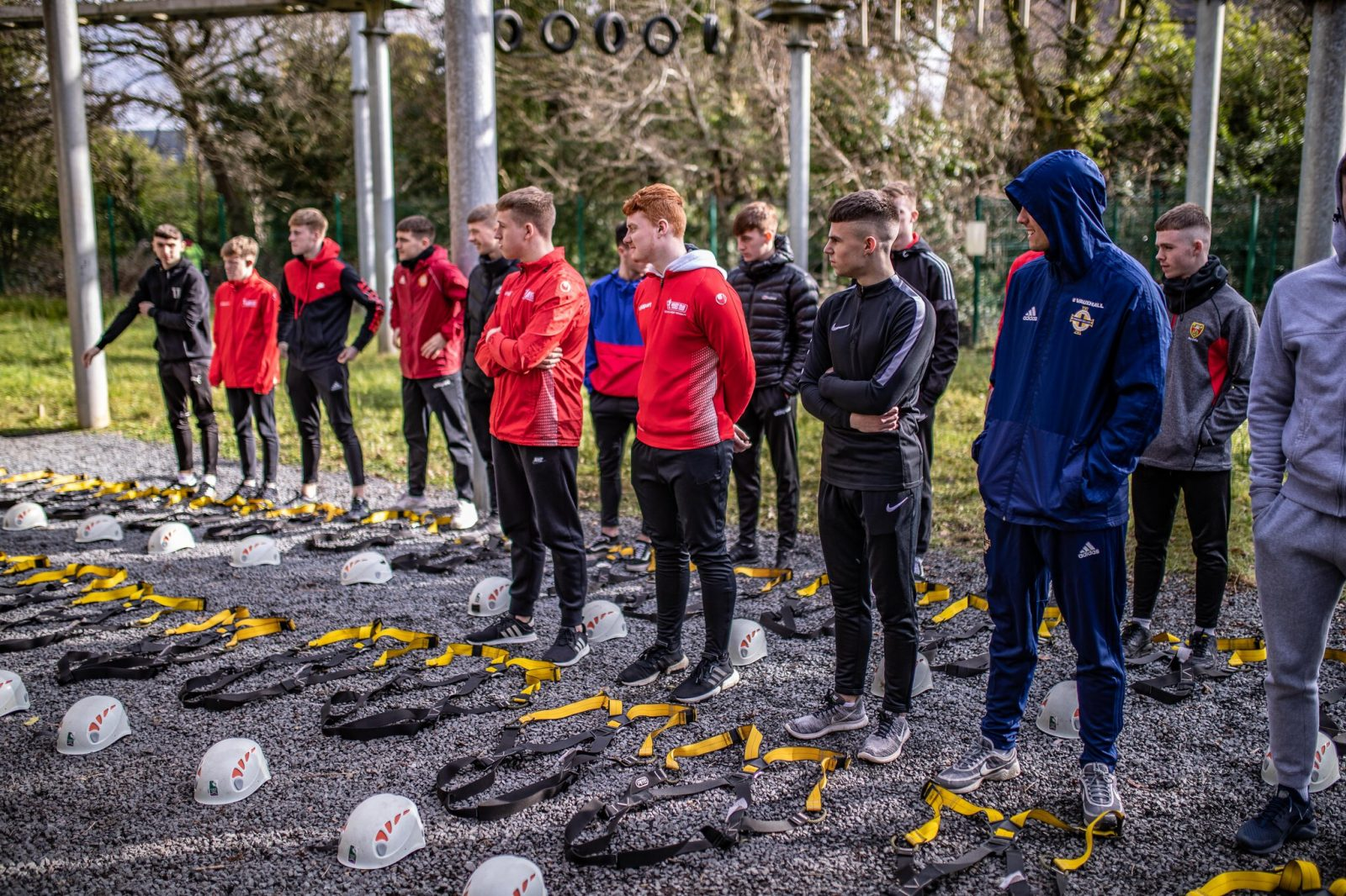 ropes course Belfast group
