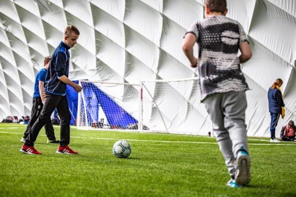 Belfast Indoor football Colin Glen