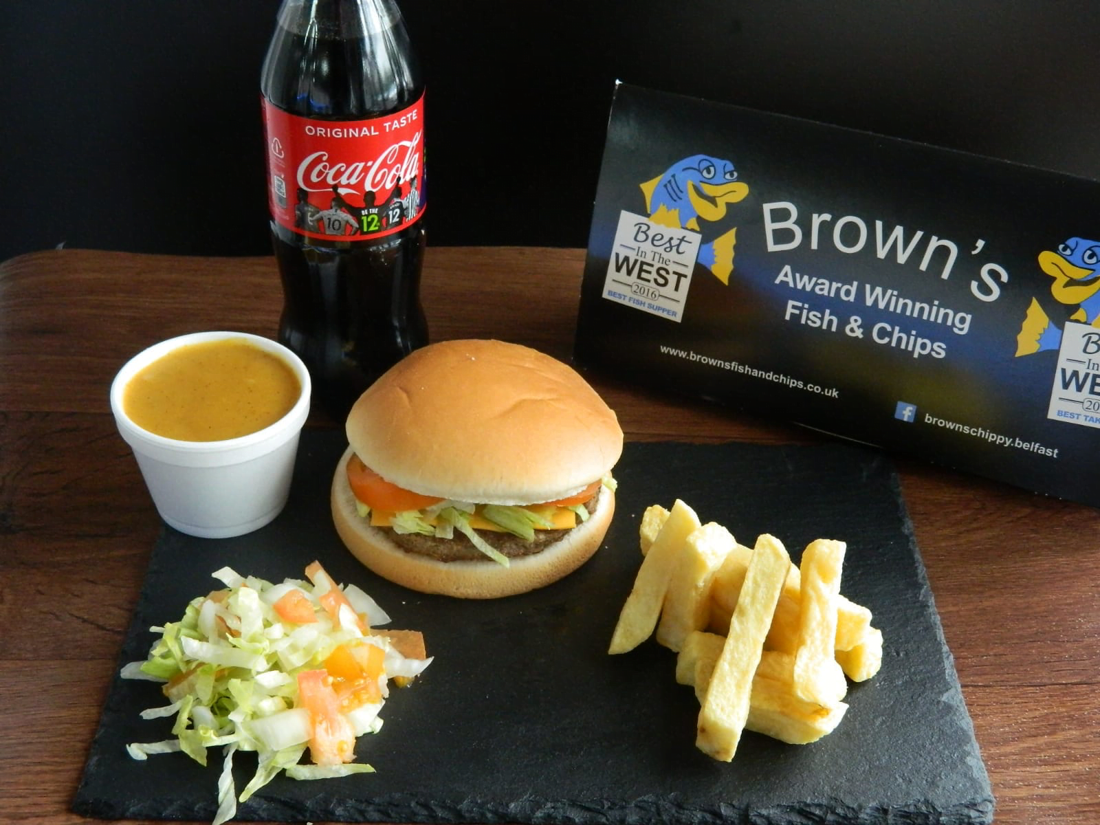 browns fish and chips food Colin Glen