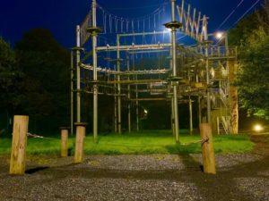 SKYTrek Belfast at night